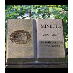 Modèle monument cimetière virtuel pour chats et chiens. Funéraire animalier