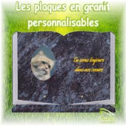 plaques funeraires granit personnalisables pour animaux