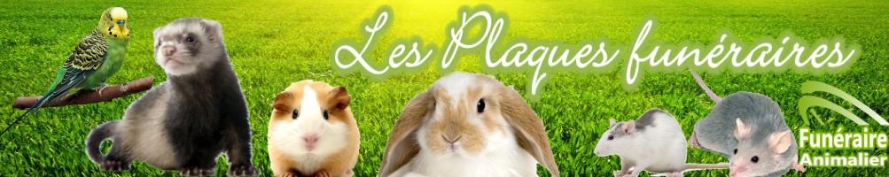 PLAQUES FUNÉRAIRES POUR ANIMAUX FURET, COCHON D'INDE, LAPIN, GERBILLE, SOURIS, RATS...